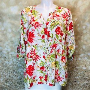 Women Cynthia Rowely boho blouse, sz 1X